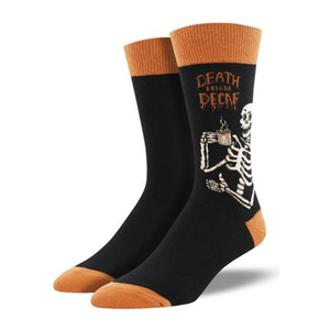 Death Before Decaf Men Crew socks