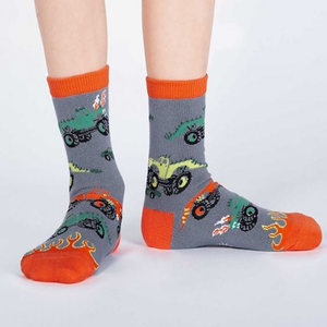 Monster Truck - Kids Crew socks (3-6 yrs)