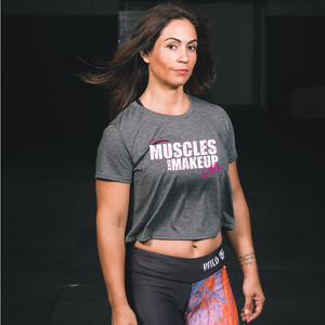 Muscles & Make Up Girl - Cropped T-shirt