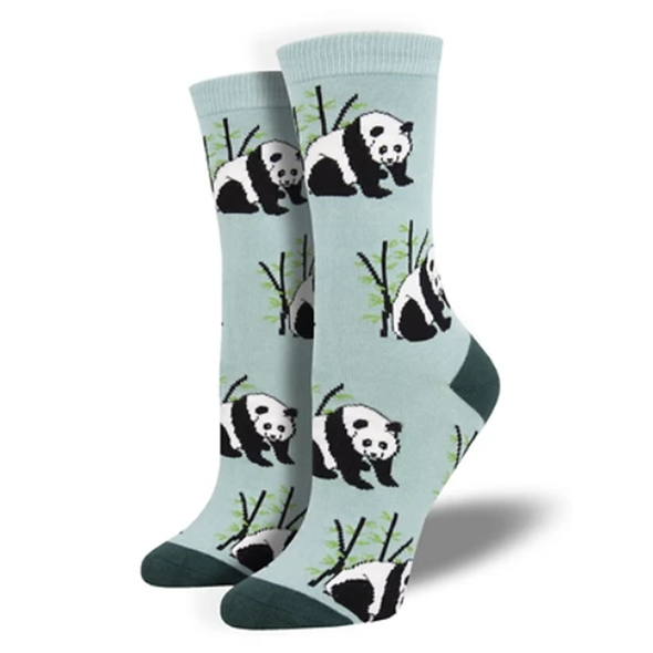 Panda Bear - Ladies Bamboo Crew socks