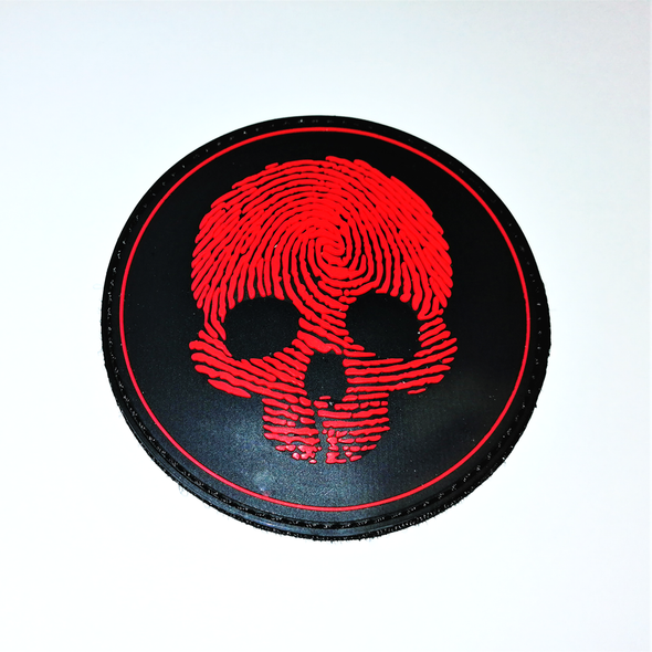 Red Skulls 3D pvc patch