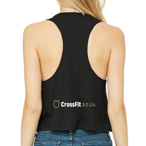 Racerback Crop Tank - CrossFit Beja | Ladies Crop Tanks - CrossFit Beja