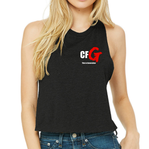 Racerback Crop Tank - CrossFit G  | Ladies Crop Tanks - CrossFit G