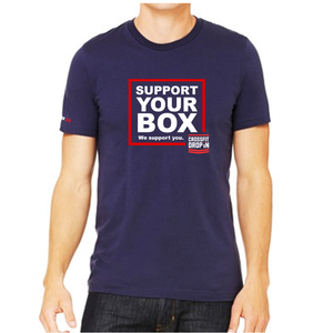 T-Shirt Support your Box - CrossFit Drop In