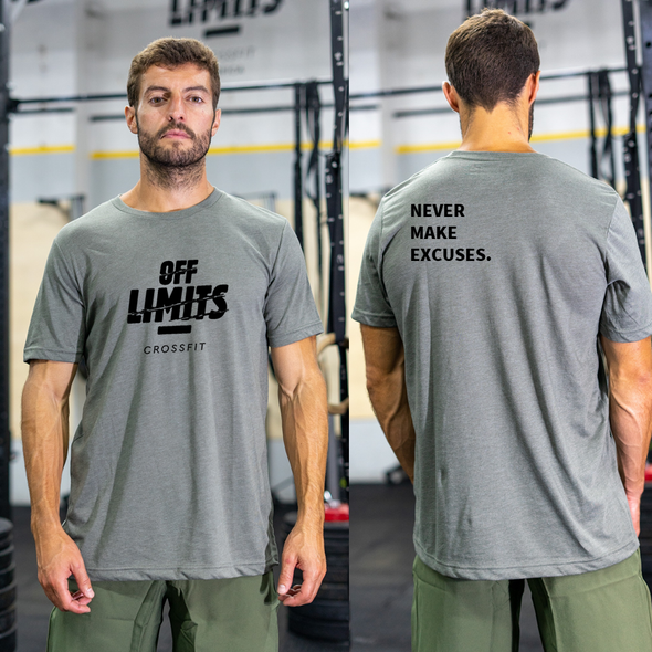 T-Shirt Off Limits CrossFi  - Edição 2021 Verde Militar | Off Limits CrossFit Men T-Shirt - 2021 Edition - armu Green