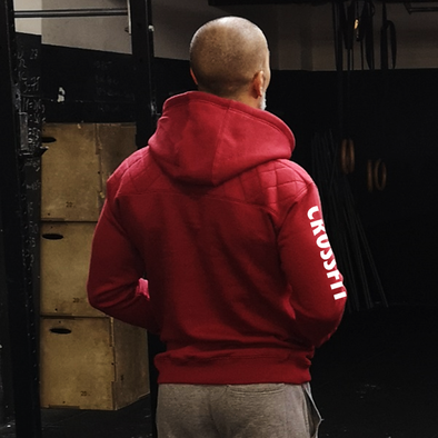 Casacos Unisexo - D. Red CrossFit LX | Unisex Full zipper hoodies - D. Red - CrossFit LX