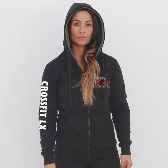 Casacos Unisexo - Black CrossFit LX | Unisex Full zipper hoodies -Black- CrossFit LX
