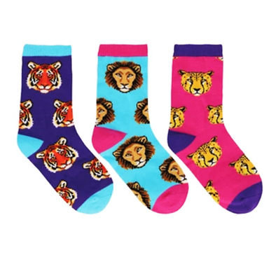 Lions & Co - Kid's 3-Pack crew socks (7-10 yrs)