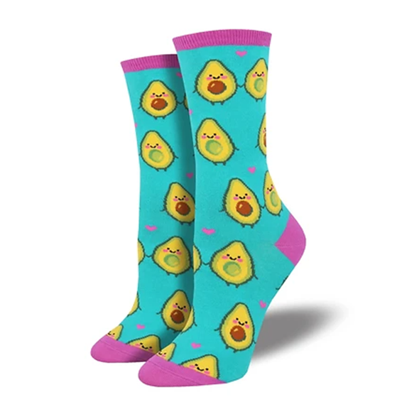 Avocado Ladies Crew socks