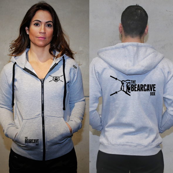Casacos Unisexo - L. Grey - The Bear Cave Box | Unisex Zip-Up hoodies- L. Grey - The Bear Cave Box