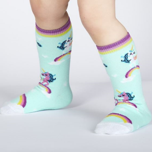 Unicorns & rainbows / 1-2 anos (até ao joelho)  | Unicorns & rainbows Baby Knee High socks (1-2 yrs)