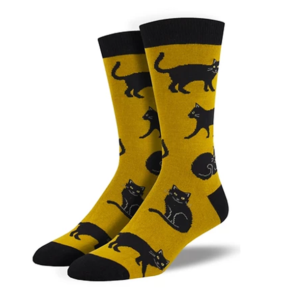 Black Cat - Men's Bamboo Crew socks