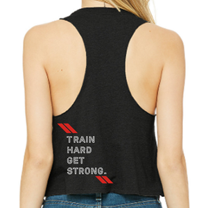 Racerback Crop Tank - CrossFit Fátima  | Ladies Crop Tanks - CrossFit Fátima