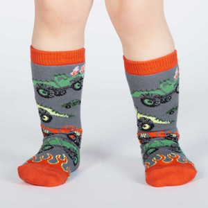 Monster trucks / 1-2 anos (até ao joelho) | Monster Trucks Baby Knee High socks (1-2 yrs)