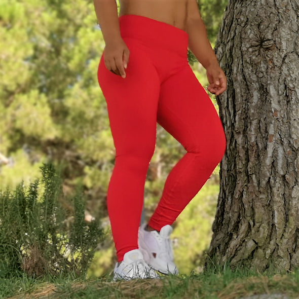 Performance Leggings - Red