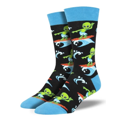 Surfing the Galaxy - Men's Crew socks