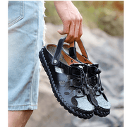Men's Hand Stitching Hollow Out Causal Beach Sandals