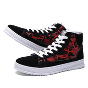 Pearlyo_Men's High-top Warm Cotton Sneakers