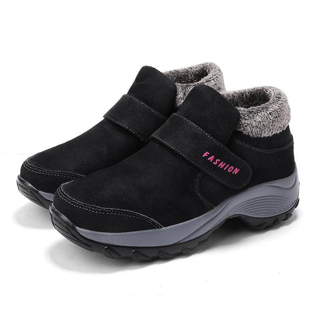 Pearlzone_Soft Bottom Cotton Walking Sneakers  for Women