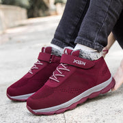 Female Winter Old Man Shoes Mother Shoes Plus Velvet Cotton Shoes Middle-aged Walking Shoes
