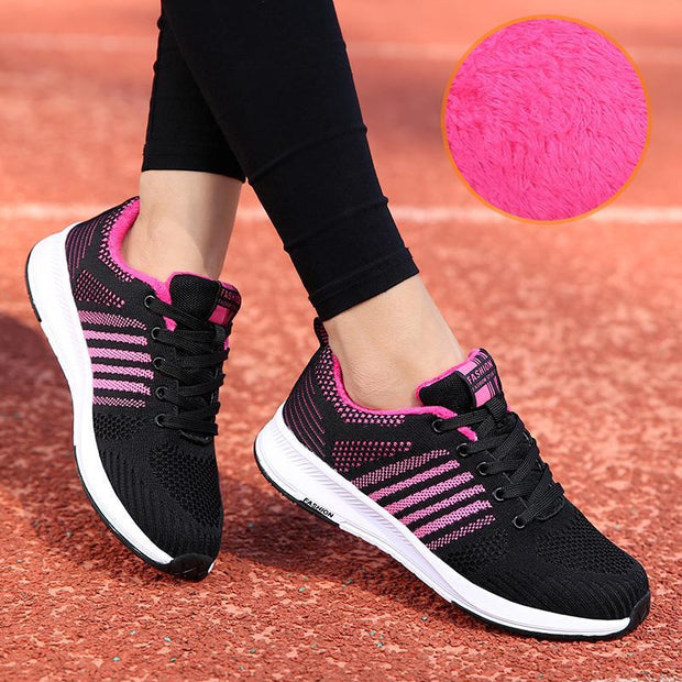 Women's Winter Flying Woven Cotton Shoes