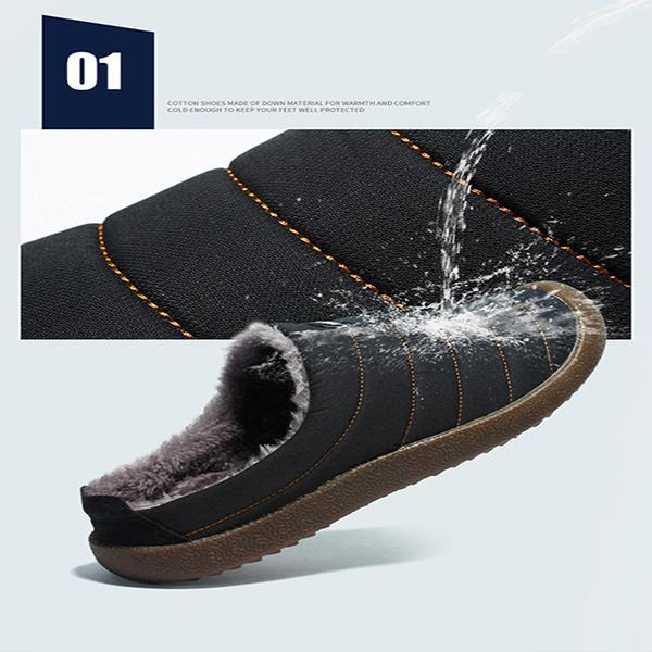 Pearlyo_Men's Casual Half-Strap Cotton Shoes