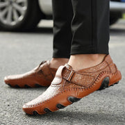 Peas shoes men's leather four seasons casual shoes Octopus British handmade shoes