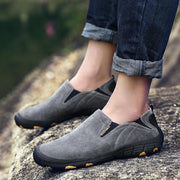 Pearlzone_Men's Leather Slip-on Outdoor Lightweight Shoes