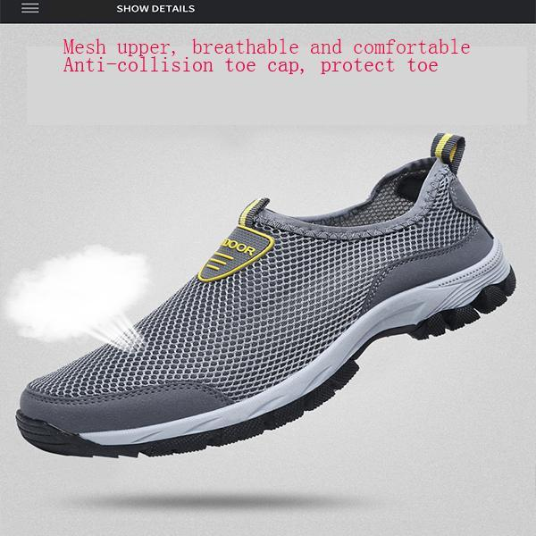 Pearlzone_Men's One Foot Outdoor Mesh Handmade Shoes
