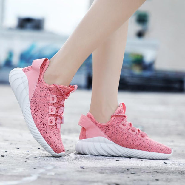 Women's Openwork Leisure Flying Woven Sports Shoes