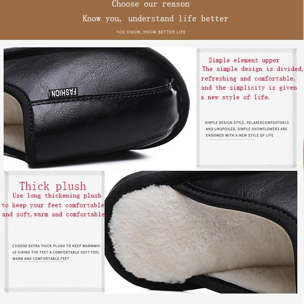 Pearlzone_Men's Waterproof Extra Warm Cotton Slippers