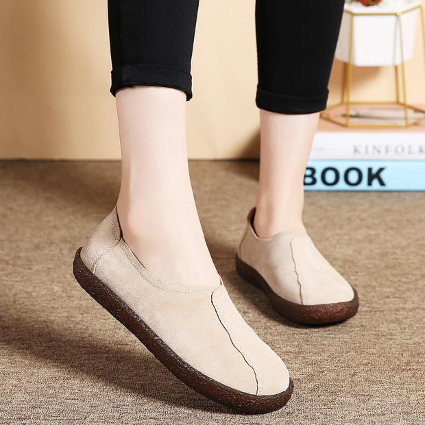 Pearlyo_Ladies Slip-on Casual Soft Peas Shoes
