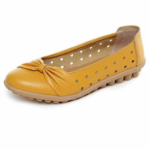 Women's Hollow Out Comfortable Soft Genuine Leather Loafers