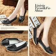 Pearlyo_Female Winter Fur Slip-on Leather Loafers