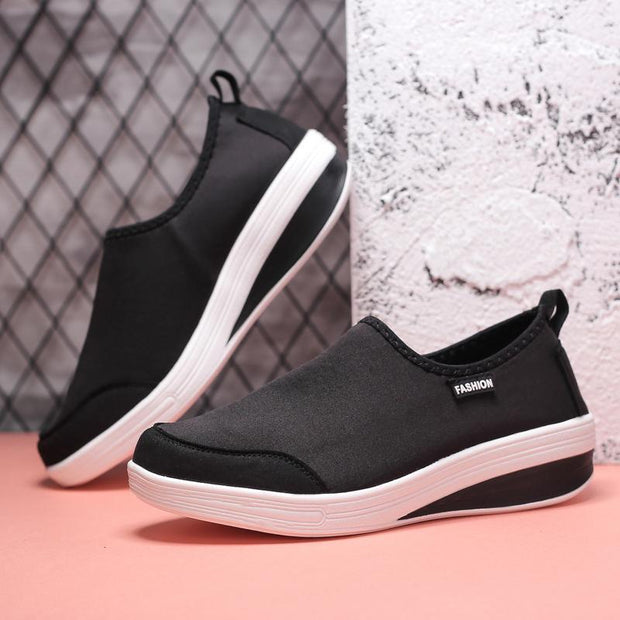 Women's Large Size Thick-soled Rocking Casual Shoes