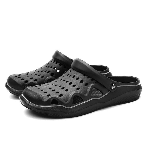 Pearlzone_Men's Ultra-light Breathable Hole Slippers