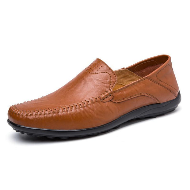 Pearlyo_Men's Genuine Leather Peas shoes 118588