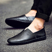 Pearlyo_Men Genuine Leather Stitching Loafers