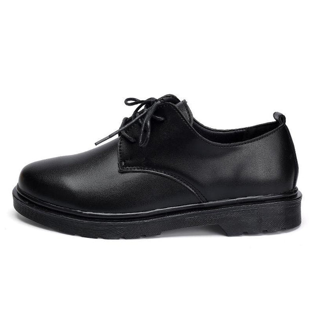 Women's Lace-up Leather Shoes