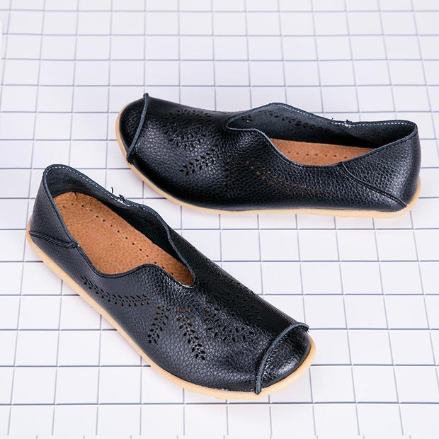 Women's Genuine Leather Soft Fashion Casual Loafers