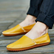 Pearlyo_Big Size Men Genuine Leather Driving Loafers Comfortable Slip On Moccasin Shoes 118877