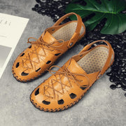 Pearlyo_Leather beach shoes personality trend men's sandals 118323