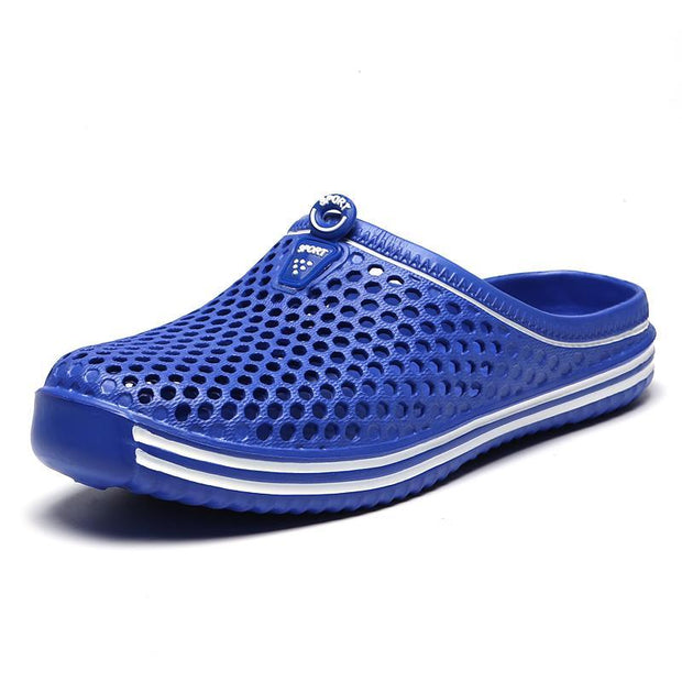 Pearlyo_Men's Garden Hole Breathable Slip-on Sandals Slippers