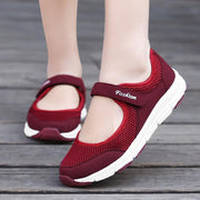 Women's Velcro Cushion and Air Mesh Walking  Shoes