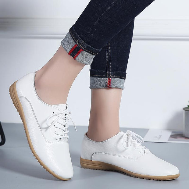 Pearlyo_Lady really skin Peas shoes Small white shoes 119585