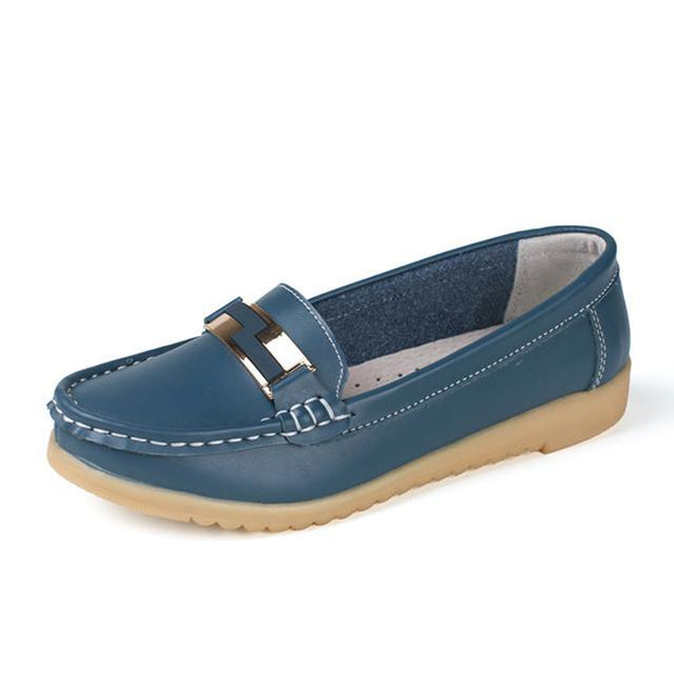 Women's Cow Leather Slip-on Casual Loafers