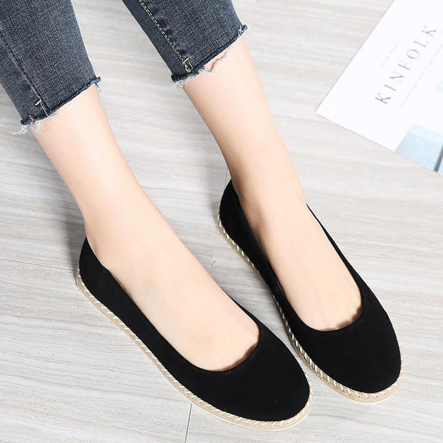 Women's New Suede Large Size Casual Loafers