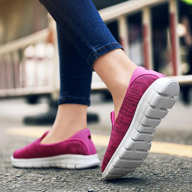 Women's Non-slip Slip-on Soft Elastic Walking Shoes