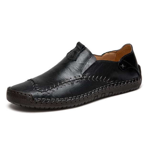 Men's Hand Stitching Non-slip Soft Leather Loafers