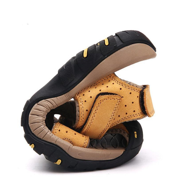 Men's Roman Style Velcro Beach Sandals Shoes